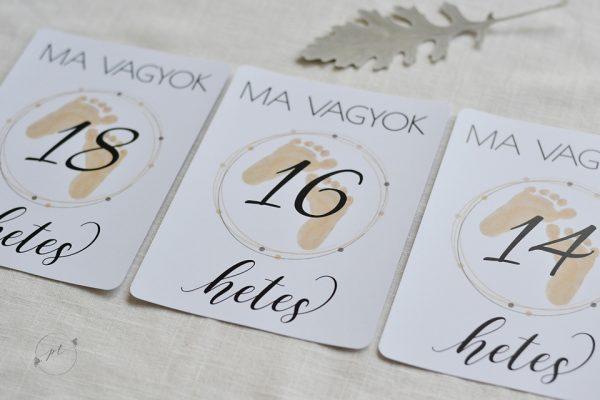 Talpacska mami mérföldkő kártyák