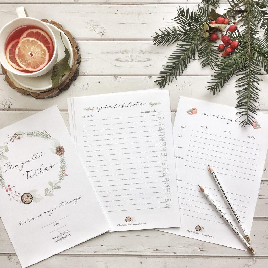 nyomtatható karácsonyi tervezőlista